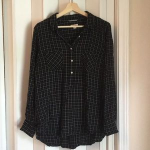 Black/white light flannel shirt sz XXL